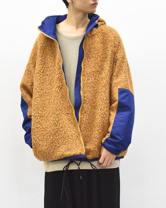 prasthana / loop yarn zip parka - CAMEL