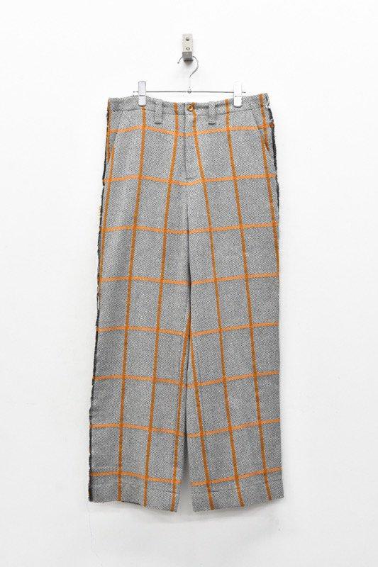 ohta /  check wide pants