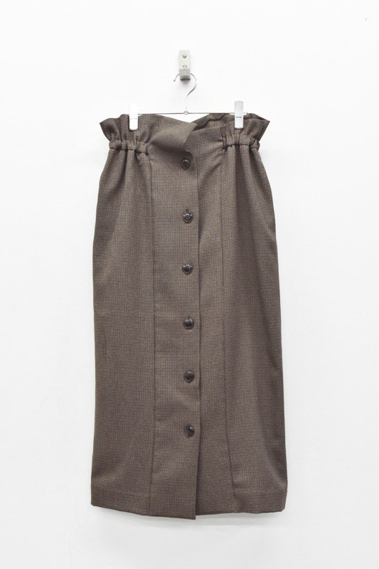 Natsumi Zama / SK003 Pencil Skirt - BROWN CHECK
