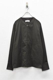 先行予約 prasthana / W/SOLOTEX no collar zip up shirt