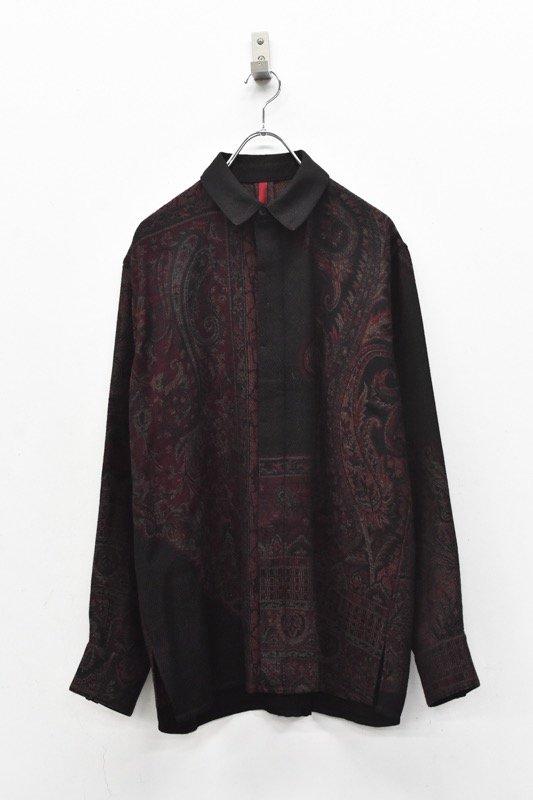 YANTOR / Tibetan Paisley Jacquard Wool Shirts - RED