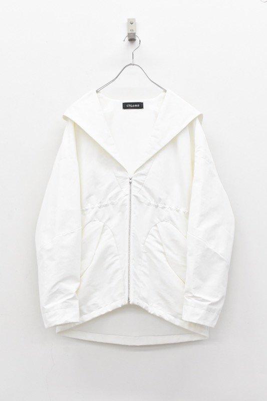 chloma / セイラーフードジャケット - ホワイト