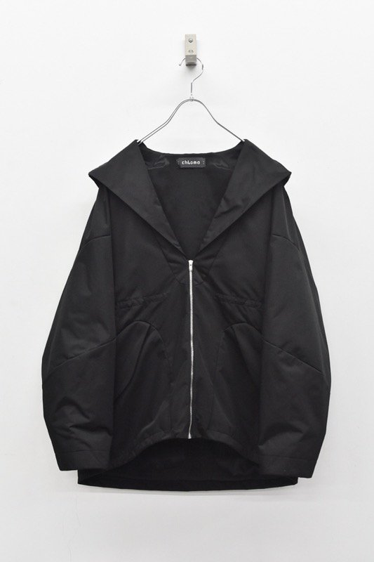 chloma / セイラーフードジャケット - ブラック