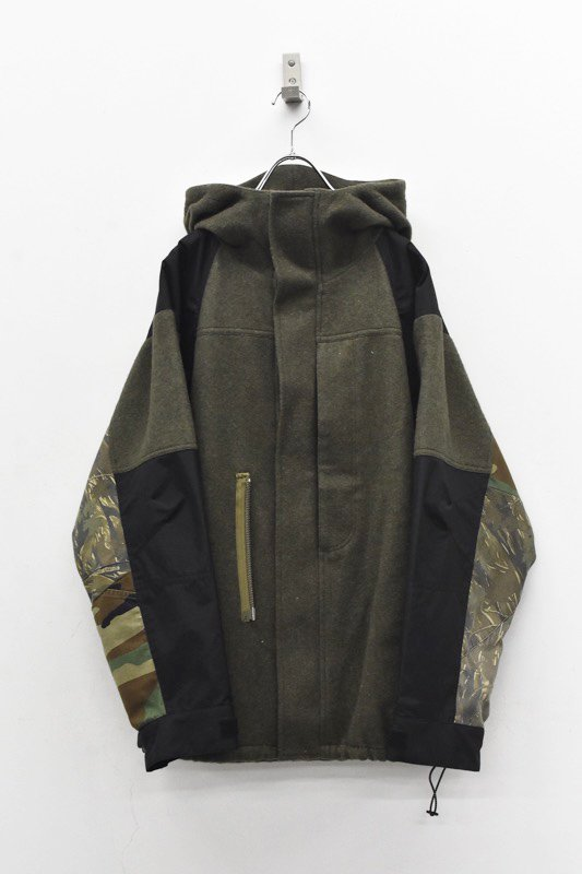 YEAH RIGHT!! / WOOL Mt PARKA SHORT - OLIVE
