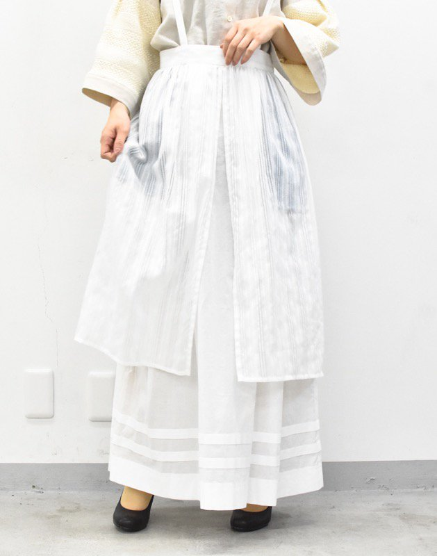 先行予約 YUKI SHIMANE / Classical Cotton skirt - WHITE