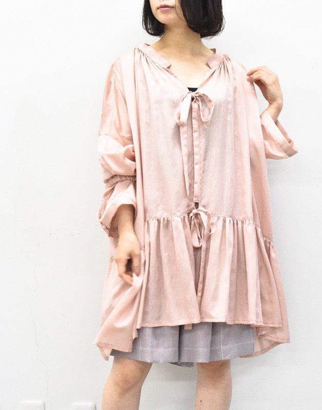 先行予約 YUKI SHIMANE / Stay Lazy cotton mix shirt - PINK