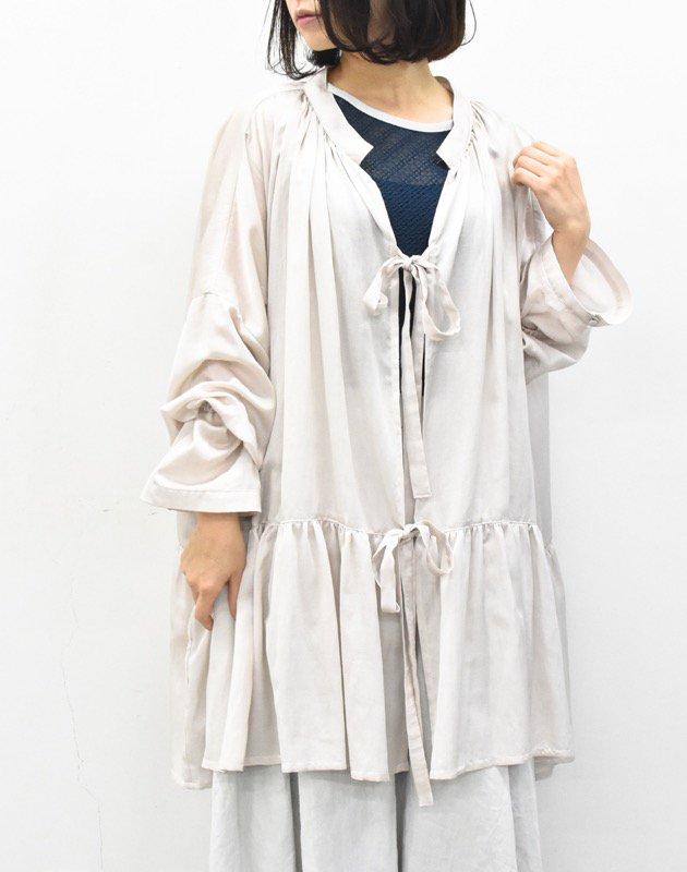 先行予約 YUKI SHIMANE / Stay Lazy cotton mix shirt - GREY