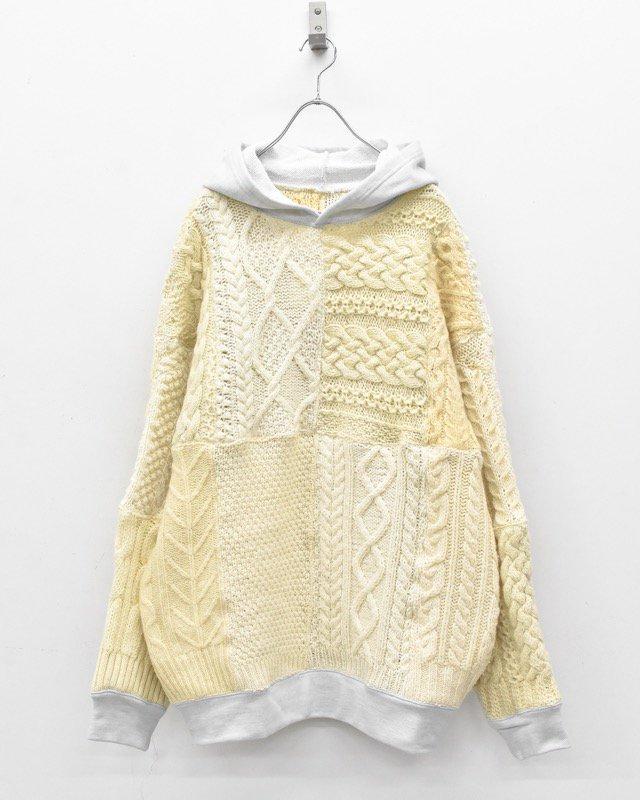YEAH RIGHT!! / SWITCHING KNIT HOODIE
