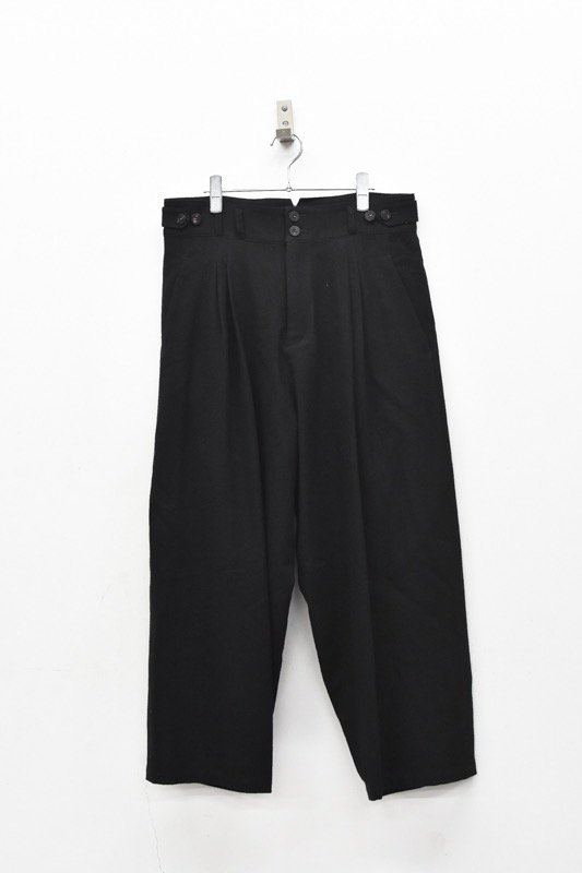YANTOR / Stone Nep 2tack Wide Pants - BLACK