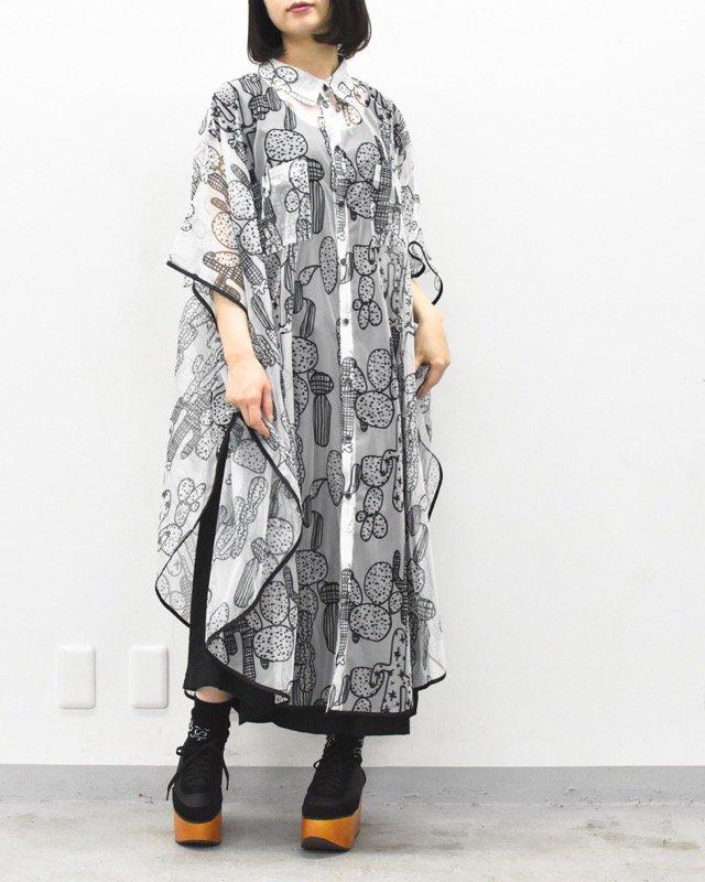 先行予約 RIDDLEMMA / Circle organdy print dress Φ120