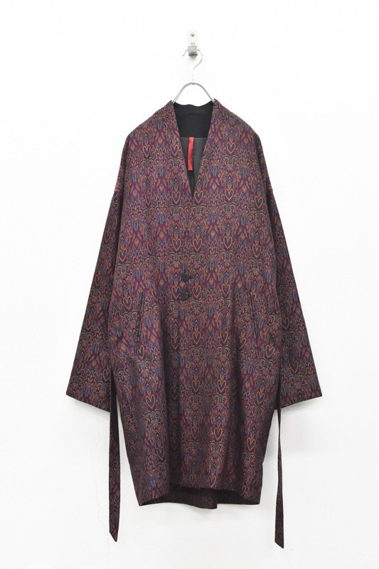 YANTOR / Pappu Persian Hand-Jacquard Gown Coat - ASID RED