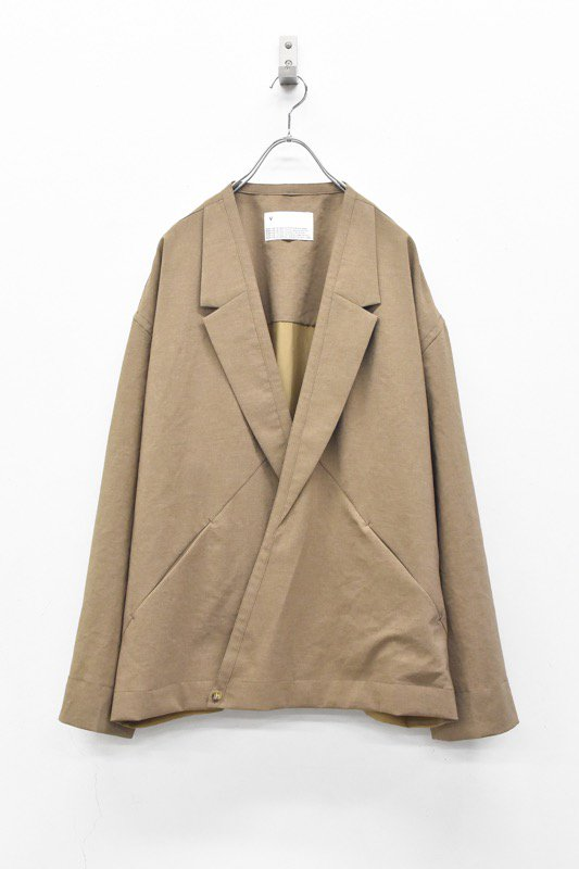 VOAAOV / Natural Water Repellent Jacket Cardigan - BEIGE