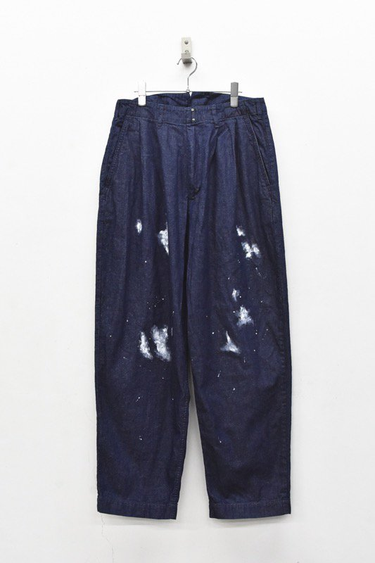 My Beautiful Landlet / 8oz Wide denim pants - ONE WASHI INDIGO