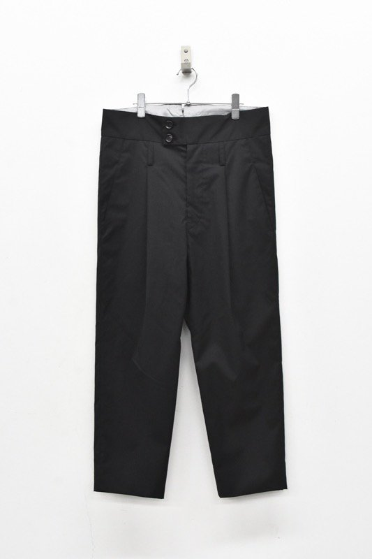 prasthana / W/SOLOTEX high rise slacks - BLACK