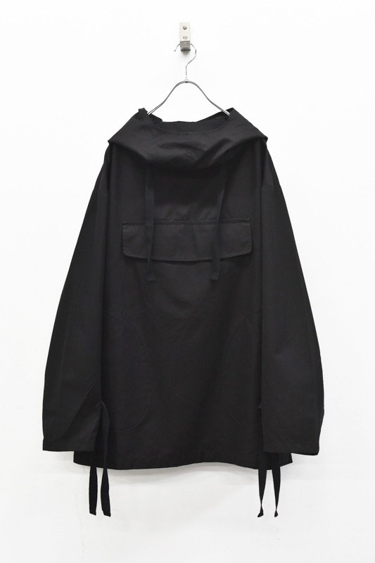 prasthana / hang strings salvage parka - BLACK