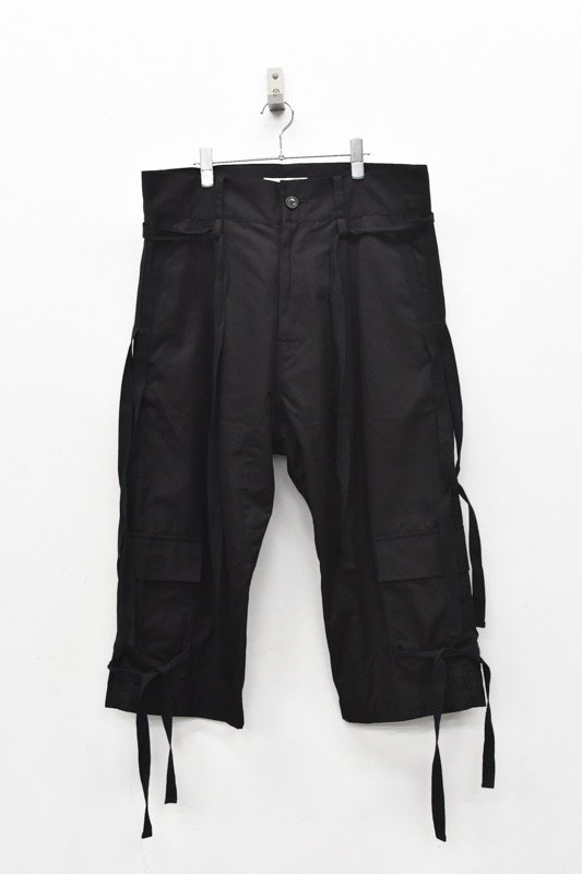 prasthana / hang strings cargo trousers - BLACK
