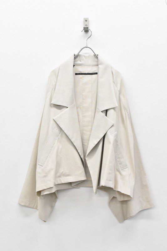 My Beautiful Landlet / COTTON LYOCEL&LINE CANVAS WIDE JACKET - BEIGE