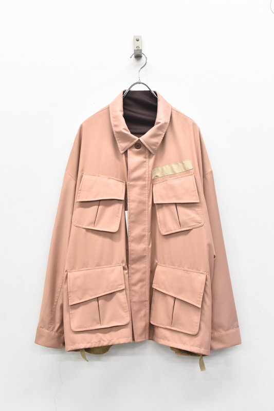 elephant TRIBAL fabrics / Reversible fatigue JKT - DUSTY PINK (ペイズリー柄)