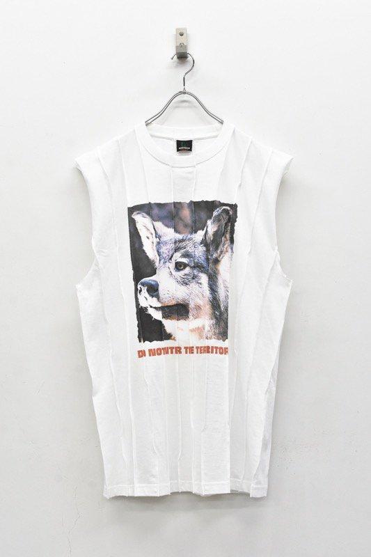 NON TOKYO / ANIMAL PIN-TUCK T-SHIRT - WOLF