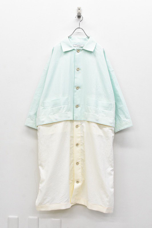 sneeuw / ブロックシャツコート - MINT