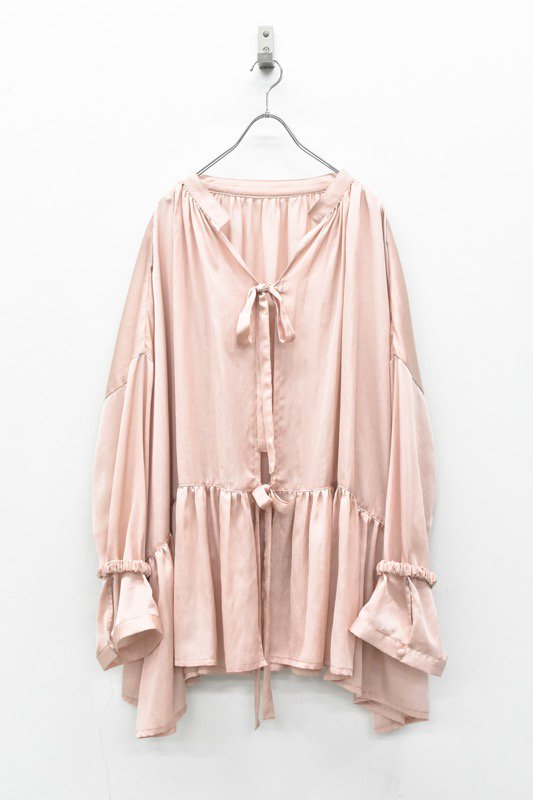 YUKI SHIMANE / Stay Lazy cotton mix shirt - PINK