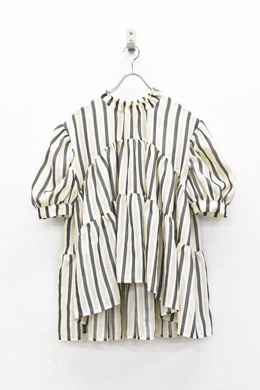 HOUGA / emily blouse - WHITE*BLACK