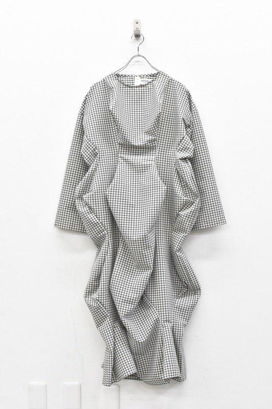 HOUGA / mary twisted dress - WHITE*BLACK