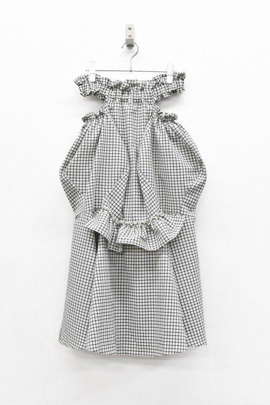 HOUGA / mary skirt - WHITE*BLACK