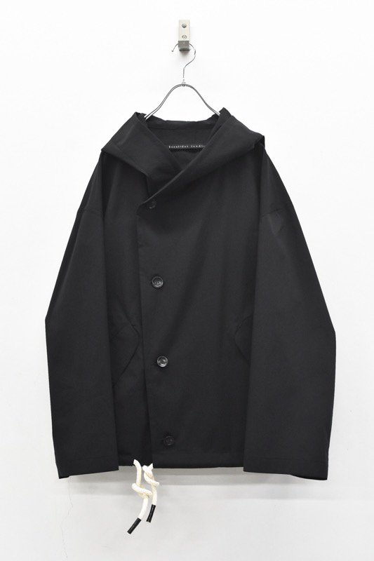 My Beautiful Landlet / TECHNO HOODED BLOUSON - BLACK