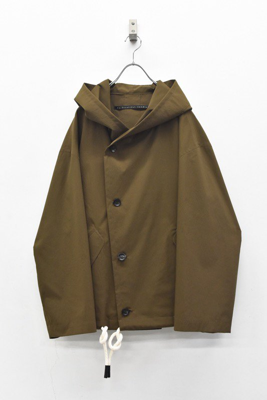 My Beautiful Landlet / TECHNO HOODED BLOUSON - BROWN