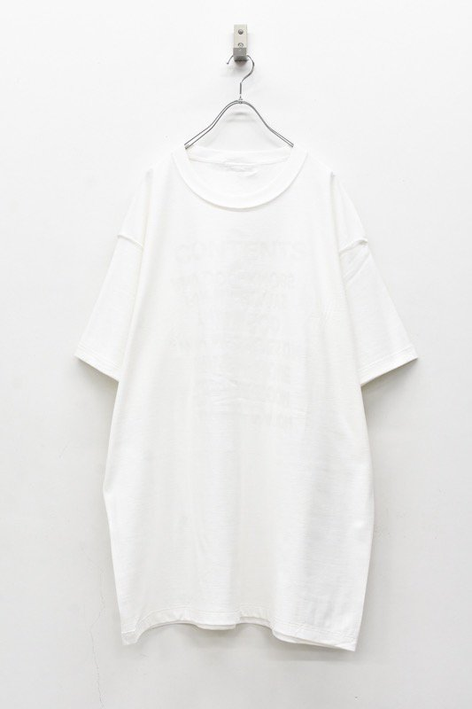 BODYSONG. / TEE-CONTENTS - WHITE