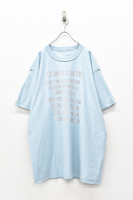 BODYSONG. / TEE-CONTENTS - BLUE
