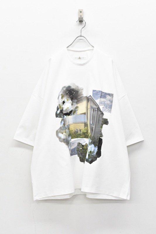 <アーカイブ>BALMUNG / プリントビッグTシャツ - モデルハウス - 白