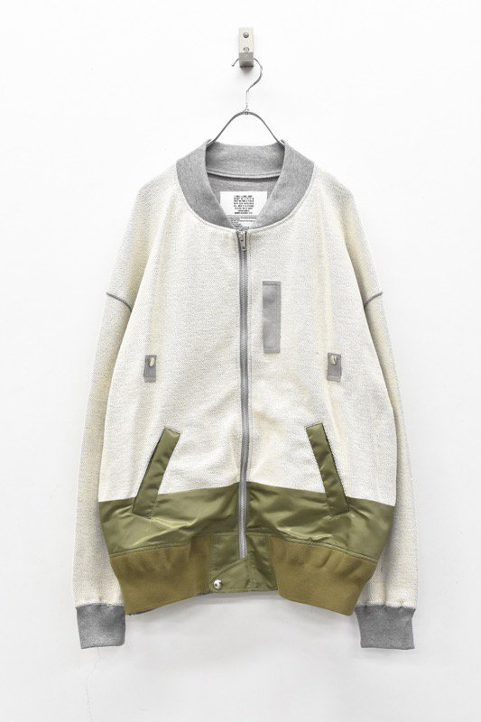 elephant TRIBAL fabrics / MA-1 Docking Inside Out Sweat Blouson - GRAY