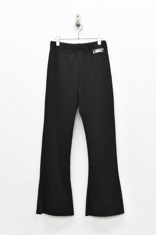 NON TOKYO / RIB FLARE PANTS - BLACK