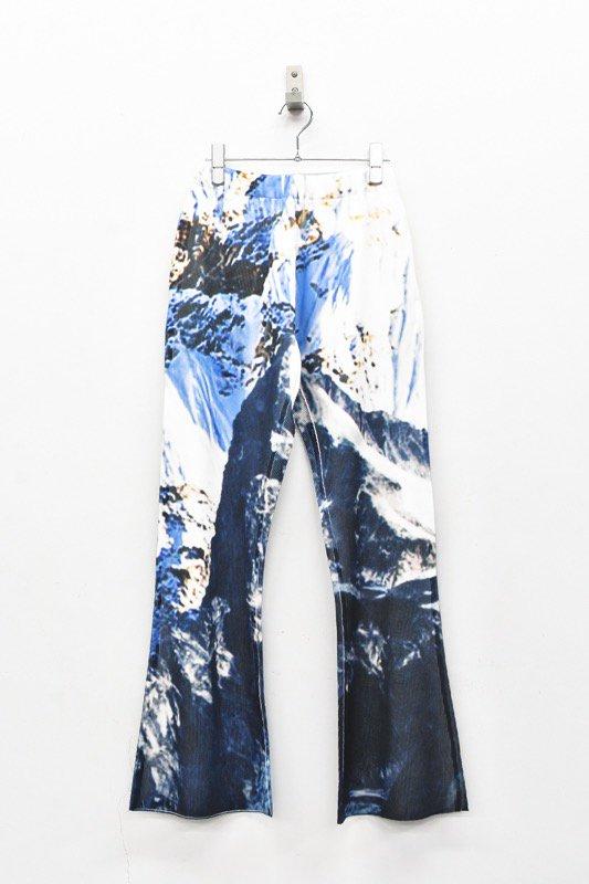 NON TOKYO / RIB FLARE PANTS - PRINT C