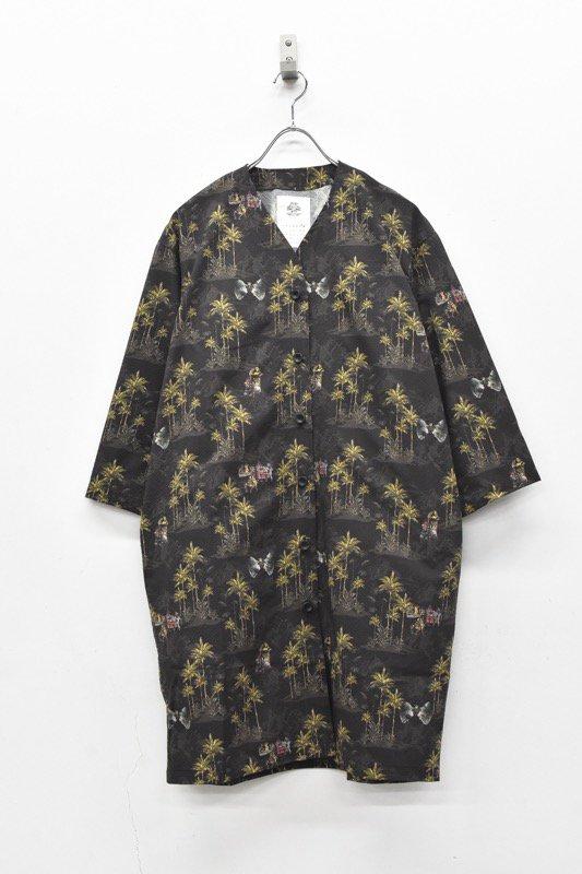 STOF / After War Aloha Long Shirts - BLACK
