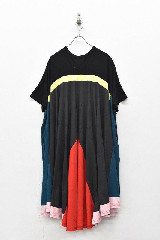 bedsidedrama / Peacock Dress Tee - BLACK