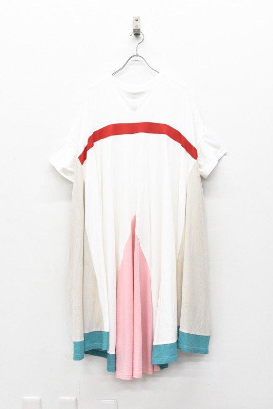 bedsidedrama / Peacock Dress Tee - WHITE