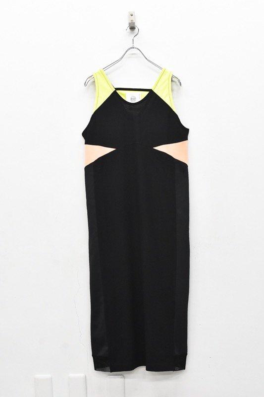 bedsidedrama / Mix Color Dress Singlet - BLACK