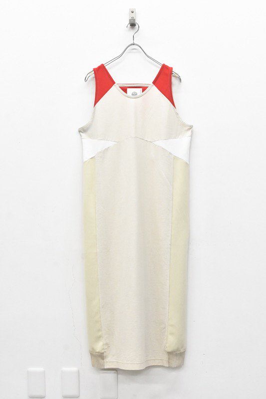 bedsidedrama / Mix Color Dress Singlet - L.BEIGE