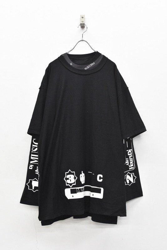 BODYSONG. / Three-ply T-shirt2 - BLACK