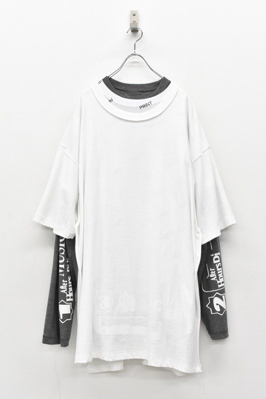 BODYSONG. / Three-ply T-shirt2 - WHITE
