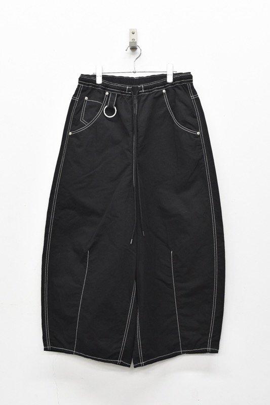 prasthana / super fat easy pants - BLACK