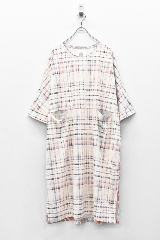 bedsidedrama / Tropical Mix Wide Dress Tee - CHECK