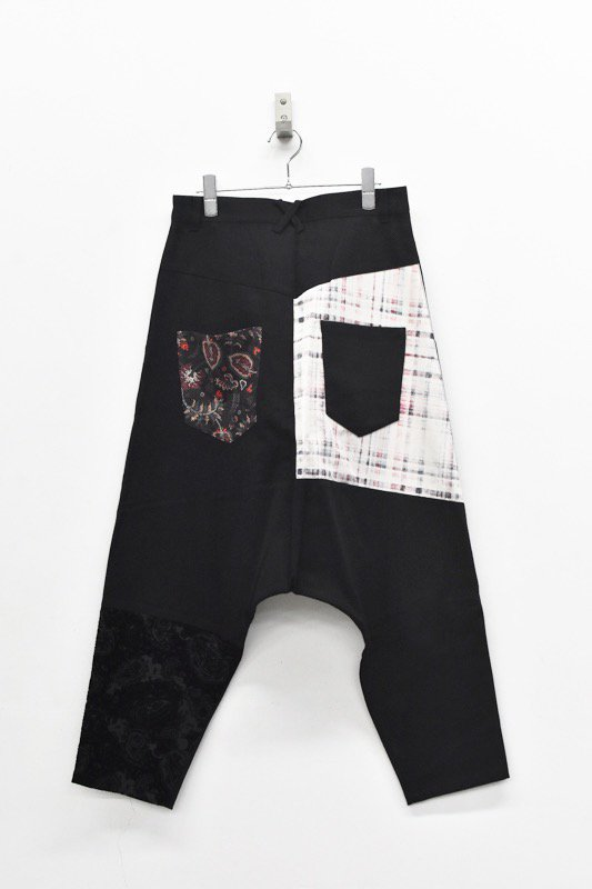 bedsidedrama / Mix Saruel Pants - BLACK