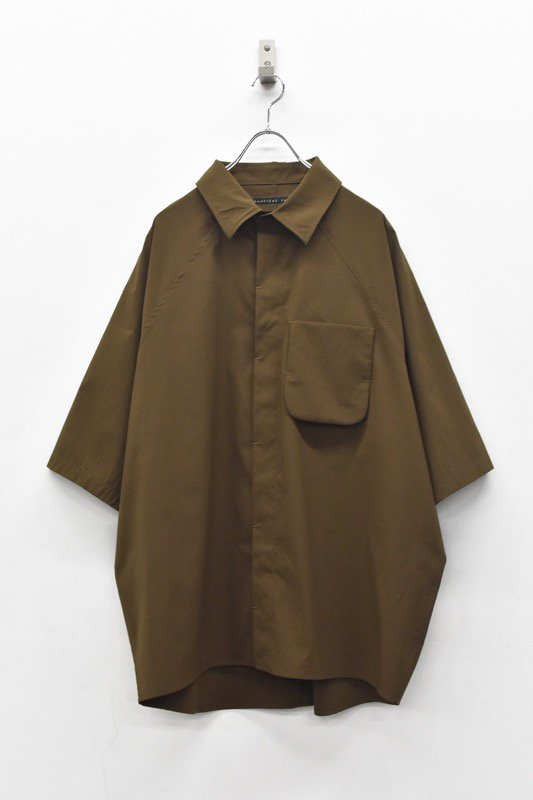 My Beautiful Landlet / TECHNO WIDE SHIRT - BROWN