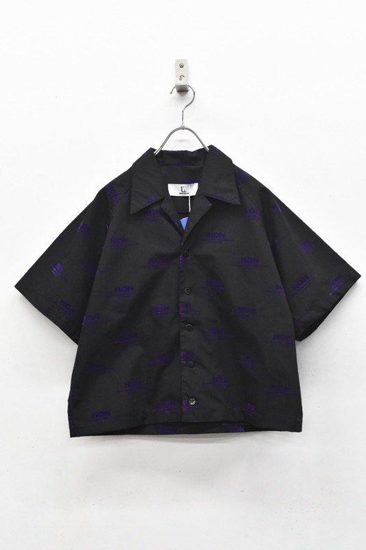 NON TOKYO / OPEN COLLAR SHIRTS - BLACK