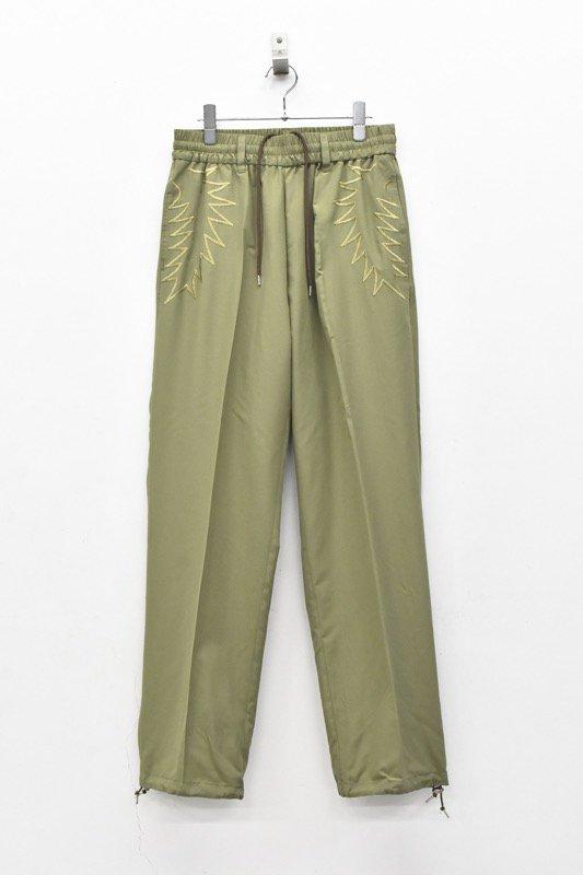 elephant TRIBAL fabrics / Palm leaf embroidery Easy PT - KHAKI