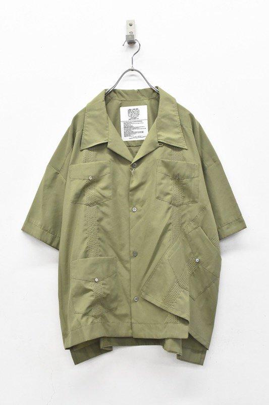 elephant TRIBAL fabrics / Out of alignment Cuban shirt - KHAKI